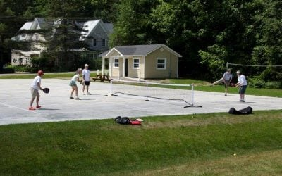 Pickleball in Thayer Park, come and play!