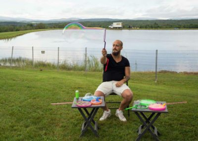 Bubble making for adults (Photo Louise Abbott)