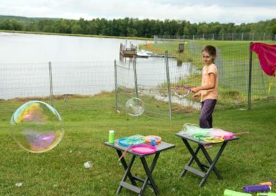 Bubble making for children (Photo Louise Abbott)